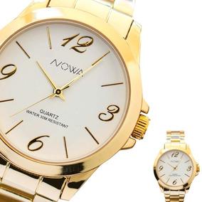 Relógio Feminino Dourado Nowa Nw1015k