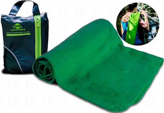 Toalha Microfibra C/ Bolsa Ultra Absorvente Antibactericida