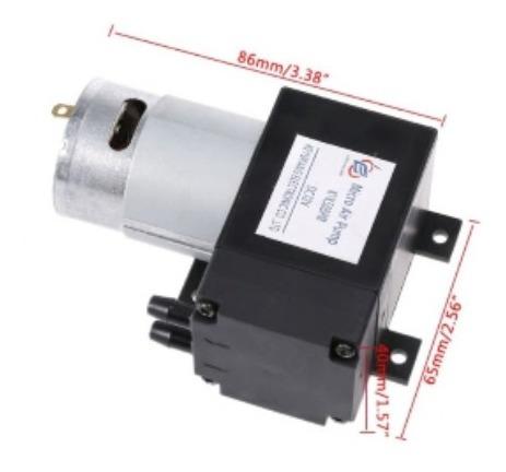 Mini Bomba De Ar Vácuo Compressor 12v Arduino Pronta Etrega