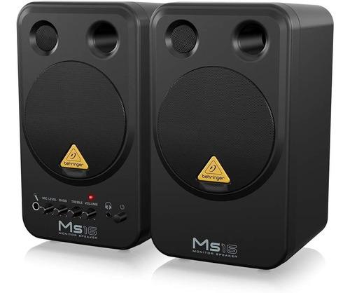 Monitores Behringer Ms16 Activos 16 Watts Set