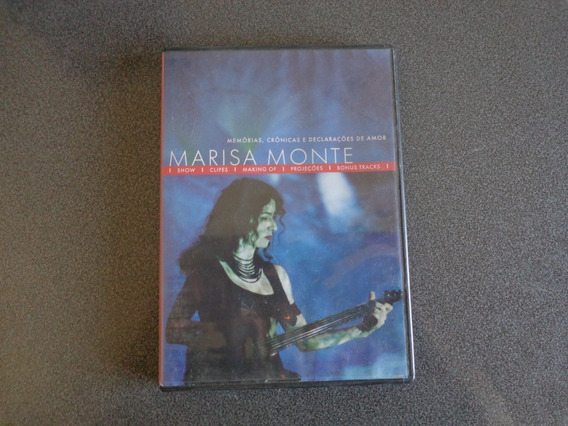 Marisa Monte Memorias,cronicas E Cancoes De Amor Dvd Usado.