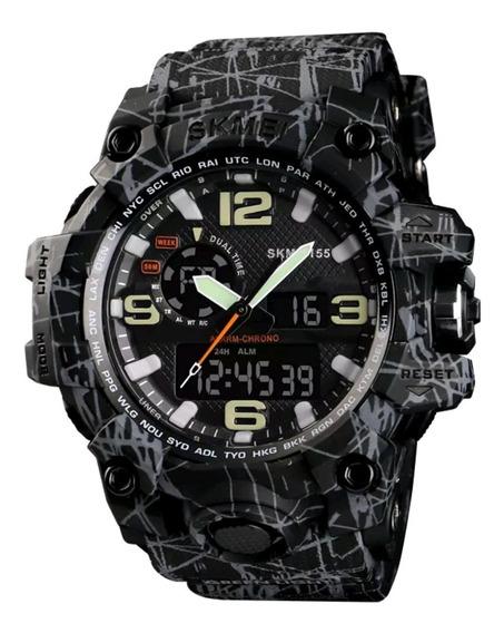 Relógio Skmei 1155 S Shock Esportivo Militar Prova D