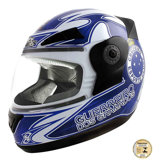 Capacete Liberty Evolution 3g Do Cruzeiro Pro Tork