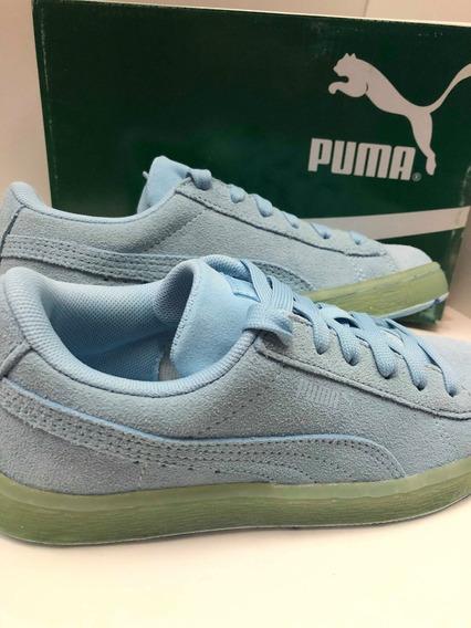 Tenis Puma Suede Classic Ice Mix Kids Color Azul,verde