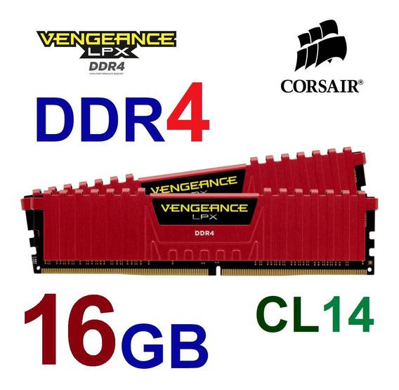 Memória 16gb 2x8gb Ddr4 Corsair 2400mhz Cl14 Desktop Ram