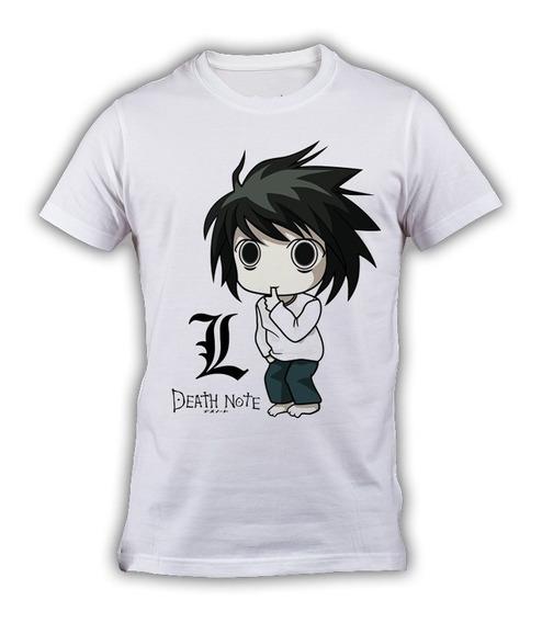 Playera Death Note L Chibi Anime Envío Gratis