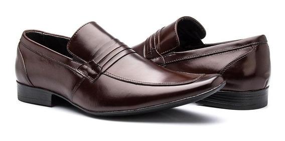 Sapato Social Masculino De Calçar Bico Fino Em Couro Barato