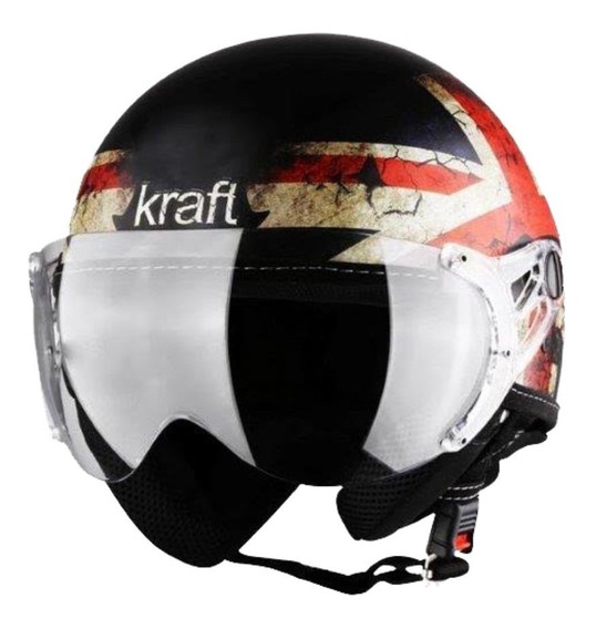 Capacete Aberto Moto Kraft Plus Inglaterra