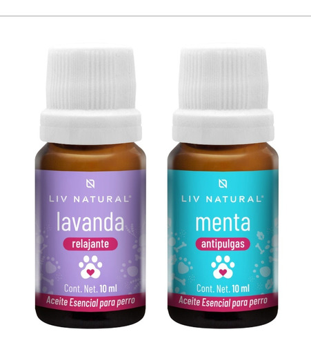 Imagen 1 de 5 de 2 Aceites Esenciales Para Perro Lavanda Y Menta Liv Natural