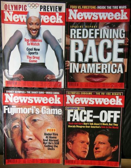 4 Revistas Newsweek Nº 36 37 39 40 - Olimpíada Sydney 2000