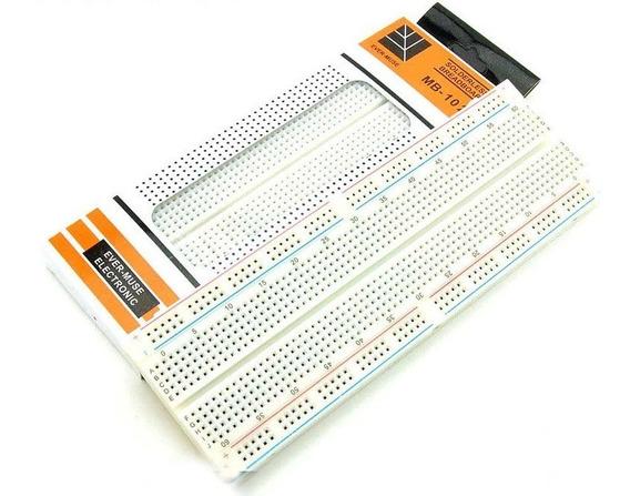 Kit Protoboard 830 Pontos + Pacote Jumper 20cm C/30 Unidades