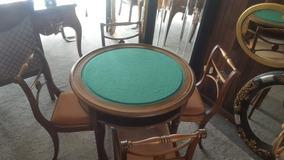 Mesa De Jogos Completa Com 4 Cadeiras Antiguidade