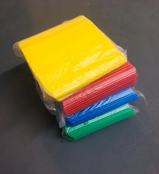 Sorbetes Pajitas Gruesos Azul Rojo Verde Amarillo X 500 Unid