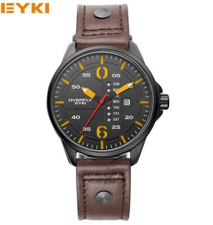 Relógio Quartz Original Eyki Couro Prova D