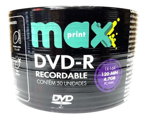 50 Mídia Virgerm Dvd Maxprint Logo 4.7gb 120min
