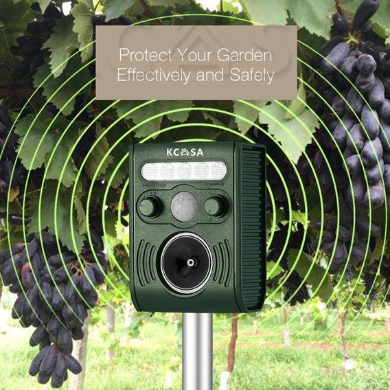 Kcasa Kc-jk369 Jardim Ultrassônico Pir Sensor Solar Animal D
