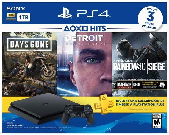 Ps4 Playstation 4 Slim 3 Juegos Nuevos De Paquete Garantia