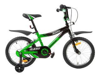 Bike Aro 16 Infantil Menino Kawasaki Mx3 V-brake Verde