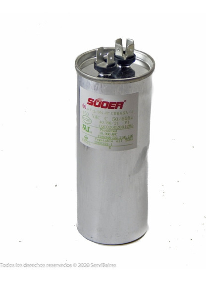 Capacitor Suoer Metalico 60mf 450vac Aire Acondicionado