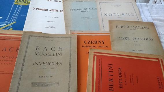 Estudos Partituras Originais Antigas Algumas Raras Kit Com 9
