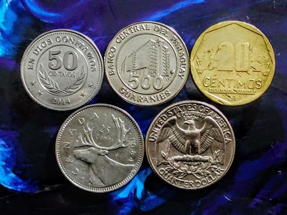 Monedas De América 11 Canada, Usa Y Otros Países