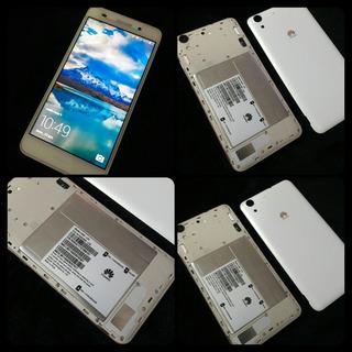 Huawei Y6ii Blanco Con Bordes Dorados 2gb Ram Y 16gb Memoria