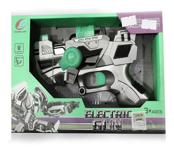Pistola De Juguete Electric Gun Con Luz Y Sonido