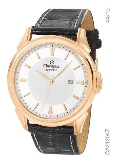 Relógio Masculino Champion Dourado Ca21204z Pulseira Couro