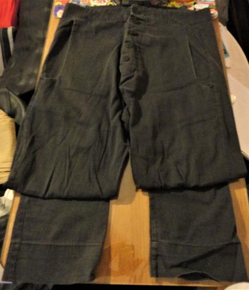 Pantalon Largo Tiro Bajo Tascani Negro Usado