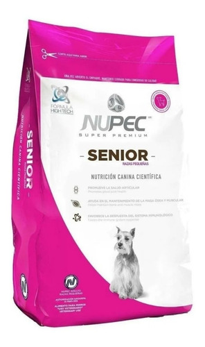 Imagen 1 de 1 de Nupec Senior Raza Pequeña 2 Kg.