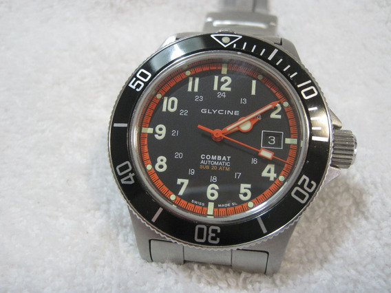 Glycine Combat Automaic, Submarine, Cx.com 43 Mm, Excelente