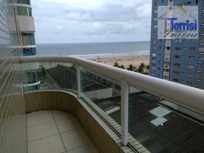 Apartamento Com 02 Dormitórios À Venda, 82 M² Por R$ 460.000 - Vista Mar Canto Do Forte - Praia Grande/sp - Ap1828