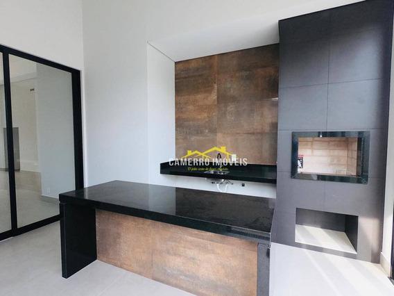 Casa Com 3 Suítes, Toda Terreá À Venda, 250 M² Por R$ 1.597.000 - Condomínio Jardim Ipês Amarelos - Americana/sp - Ca2200
