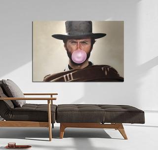Cuadro 40x60cm Clint Eastwood Pop Art Bueno Feo Malo Chicle