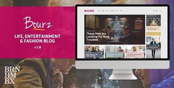 Bourz V1.5 Vida, Entretenimento E Moda Blog Tema