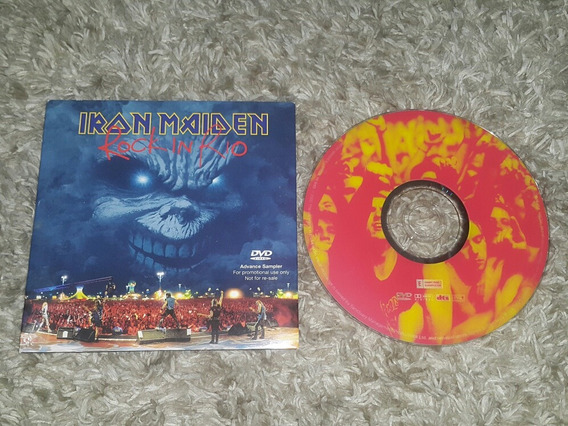 Iron Maiden Rock In Rio Advance Promo Sampler Dvd Cardboard