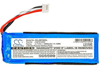 Bateria Gsp872693 P/ Jbl Flip 3 Jbl Flip 3 Gray