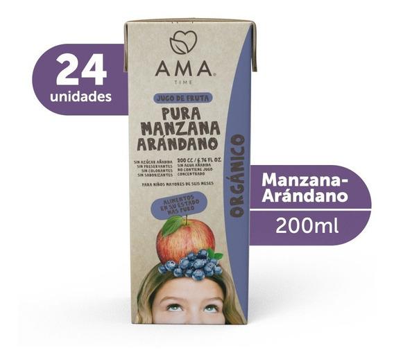 Ama Jugo Manzana Arándano Orgánico 24x200cc