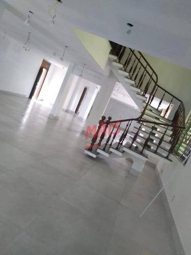 Sobrado Com 4 Dormitórios Para Alugar, 378 M² - Ponta Da Praia - Santos/sp - So0447