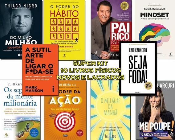 10 Livros Poder Do Hábito, Mindset, Pai Rico Poupe Seja Foda