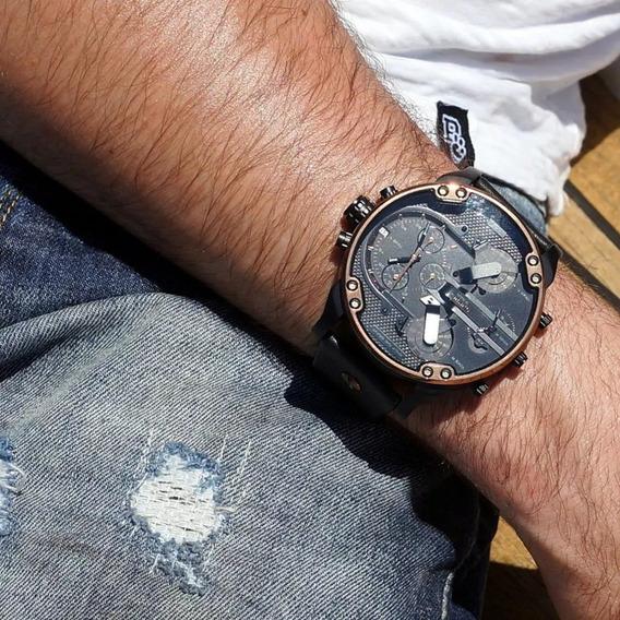 Relógio Diesel Dz7401 Mr. Daddy 2.0 Black Original 57 Mm