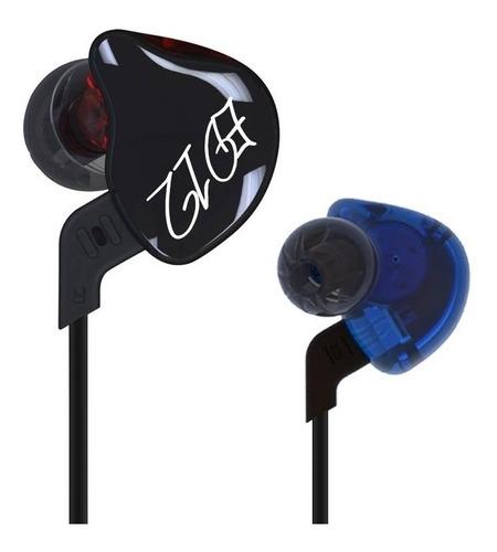 Imagen 1 de 3 de Auriculares In-ear Kz Ed12 Azul Y Rojo
