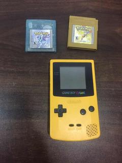 100$ Gameboy Color + 2 Juegos Pokemon Clasicos Gold, Crystal