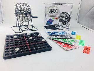 Bingo Familiar Con Bolillero Metal, 90 Num, 48 Cart. Ar1 Fd5