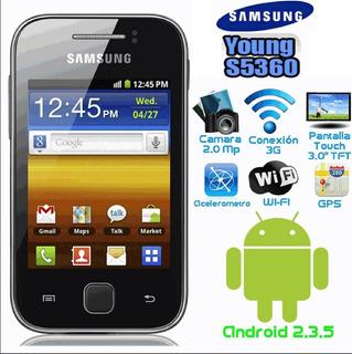 Samsung Galaxy Young Negro Telcel Desgaste Mica De Pantalla
