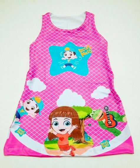 Vestido Trapézio Suplex Infantil Lol Minnie Varias Personagens Tam 8
