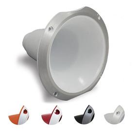 Corneta Cone Alumínio Hl-1450 Branco Preto Curta Rosca
