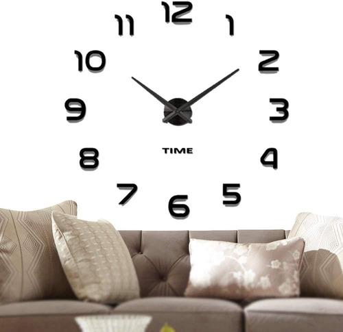 Imagen 1 de 5 de Reloj De Pared Digital 3d Moderno Y Grande De 110cm Negro