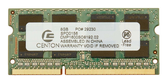 Memoria Ram 8gb Centon Electronics Cmp1600so8192.02 Pc3-12800 (1600mt/s) 204 Pin Ddr3 Sodimm Commercial Unbuffered Non-e