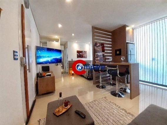 Apartamento Totalmente Mobiliado Com 1 Dormitório À Venda, 38 M² Por R$ 285.000 - Vila Augusta - Guarulhos/sp - Ap8883